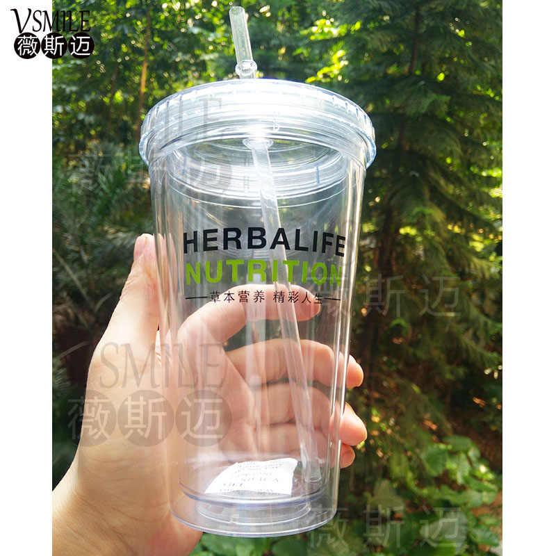 جديد وصول heralife التغذية 520 مللي عالية الجودة BPA الحرة القش نوع الحليب هزة زجاجتي الماء والعصير شاكر زجاجة للشرب أثناء الرياضة