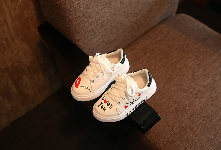 COZULMA Girls Boys Casual Shoes Sneakers 17 Children Sport Shoes Baby Boys Shoes Kids Letters Lace-Up Running Shoes Sneakers 10