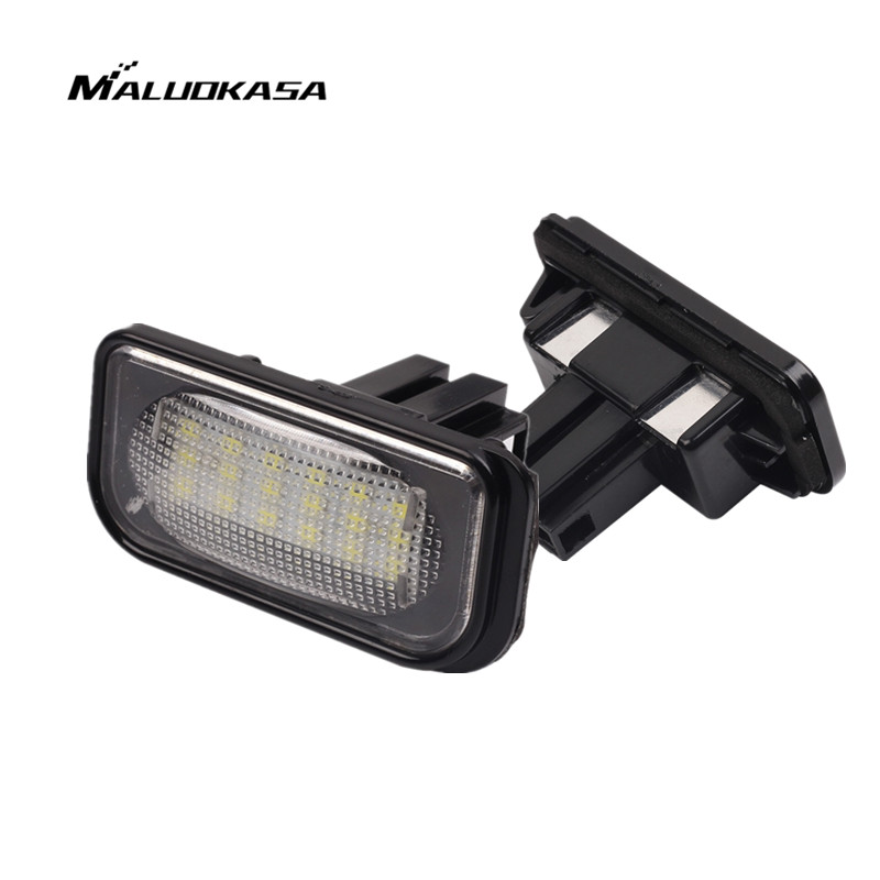 MALUOKASA 2PCs Error Free SMD Number-plate Lamp License Plate Light LED Indicators For Mercedes Benz W203 W211 W219 E Autocross 10pcs error free led lamp interior light kit for mercedes for mercedes benz m class w163 ml320 ml350 ml430 ml500 ml55 amg 98 05