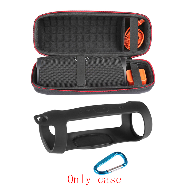 Image 4 - 2 in 1 Hard EVA Carry Zipper Storage Box Bag+ Soft Silicone Case Cover for JBL Charge 4 Bluetooth Speaker For JBL Charge4 ColumnSpeaker Accessories   -