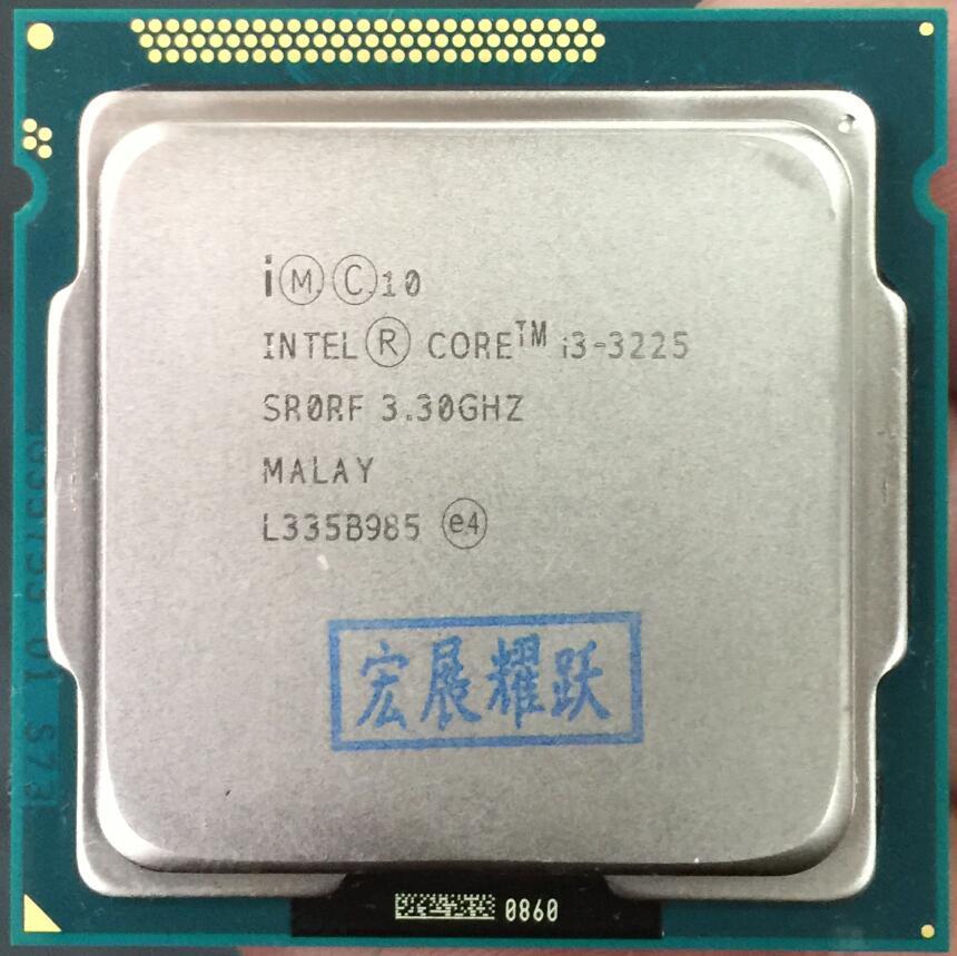 Intel Core i3-3225 i3 3225 Processeur Intel HD Graphics 4000 (3 m Cache, 3.30 ghz) LGA1155 De Bureau CPU