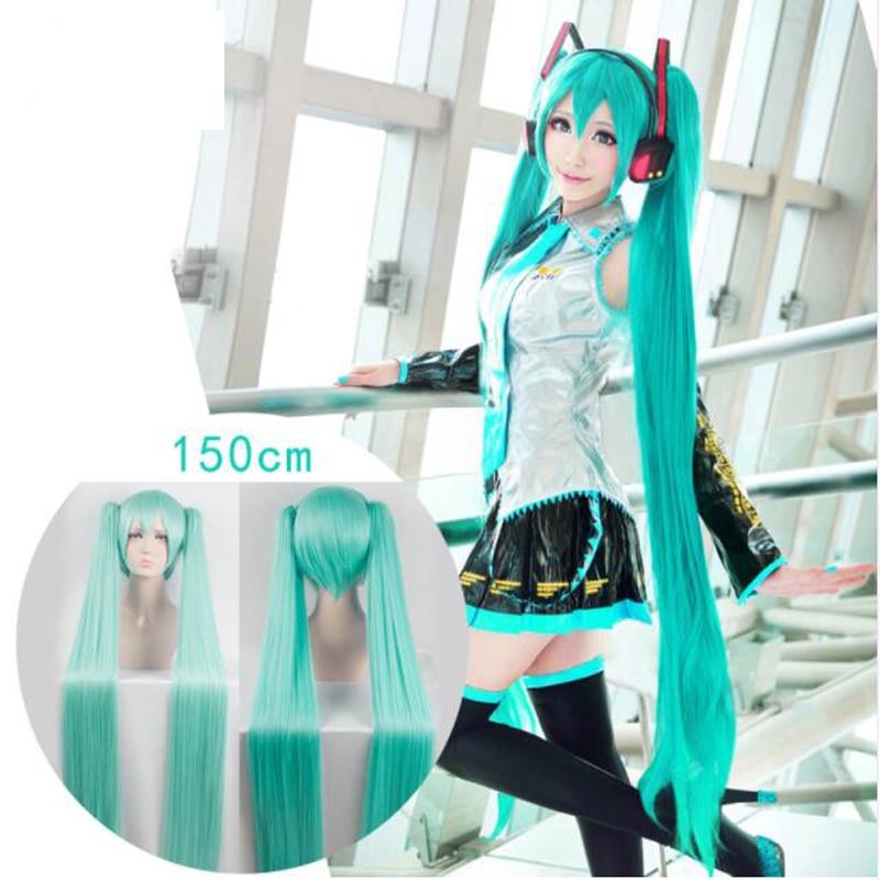 Intelligent Cosplay Perucke For Vocaloid Miku Dark Green Moderate Kosten Kleidung & Accessoires