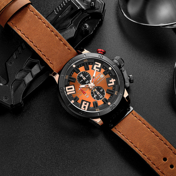 CURREN 8312 Top Brand Mens Watches Fashion Quartz Sports Wristwatch with Chronograph Male Clock 30M Waterproof erkek kol saati