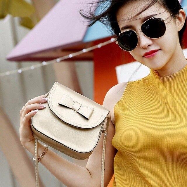 2018 NEW Luxury Handbags Women Bags Designer Bow Knot Decoration Mini Soft Single Strap Shoulder Bag Small Flap Mobile Phone Bag 3