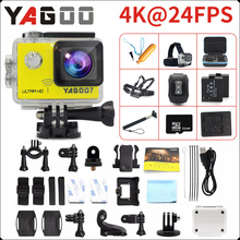 Original YAGOO7 Action camera Ultra HD 4K / 24fps WiFi 2.0″170D underwater waterproof Helmet camera mini Cam Bike Sport cam