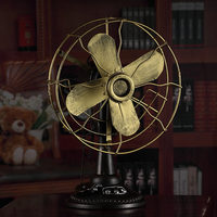 Retro fan model window Decoration Cafe Photography Props gifts antique wrought iron bars