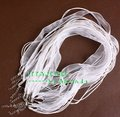 Wholesale White Color Ribbon DIY Jewelry Cord, Chains,100pcs free shipping