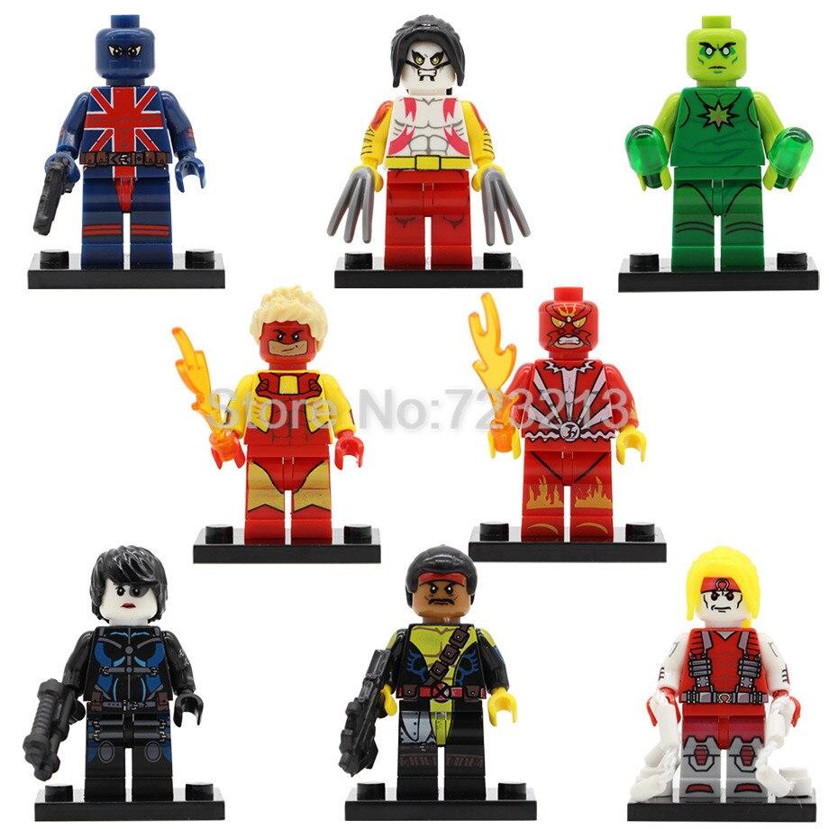 Mini Blocks Figure Super Hero Batman Howard Duck Clown Children Toy 20PCS
