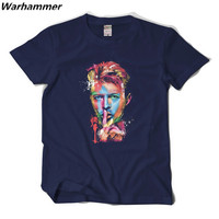 David Bowie Rock Band Men T Shirt Short Sleeve O Neck Cotton Mens Fashion Streetwear Shirt