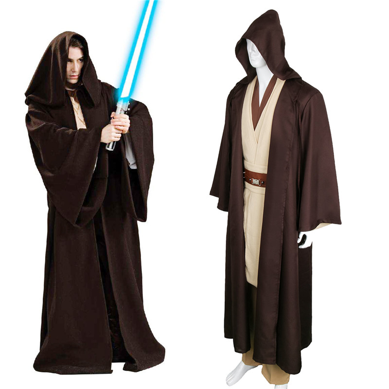 Unisex Halloween Star Wars Jedi/Sith Knight Cloak Cosplay Adult/Kids Hooded Robe Cloak Cape Halloween Cosplay Costume Only Cape!