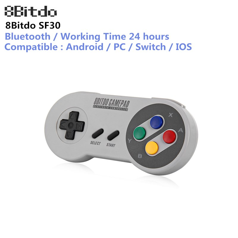 Original 8Bitdo SF30 Gamepad Wireless Bluetooth Controller Dual Classic Joystick for iOS Android Gamepad PC Mac Linux
