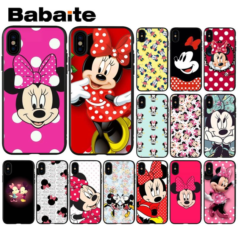 Babaite Minnie Mouse Soft Phone Accessories Cell Phone Case for Apple iPhone 8 7 6 6S Plus X XS MAX 5 5S SE XR Mobile Cases