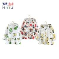 HHTU 2018 New Children Spring Autumn 100 Cotton Hoodies Baby Boys Girls Sweatshirts 1 4 Years