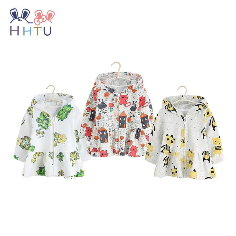 HHTU 2018 New Children Spring Autumn 100% Cotton Hoodies Baby Boys Girls Sweatshirts 1-4 Years Jacket Infant Moletons Cute