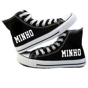Image 4 - Mới KPOP Straykids Giày Sneakers Thời Trang Nữ Đi Lạc Trẻ Em Giày Vải Jeongin Felix Bangchan Minho Changbin Vogue