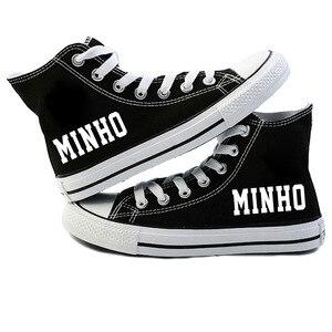 Image 4 - New KPOP Straykids Casual Shoes Womens Fashion Sneakers Stray Kids Canvas Shoes Jeongin Felix Bangchan Minho Changbin Vogue