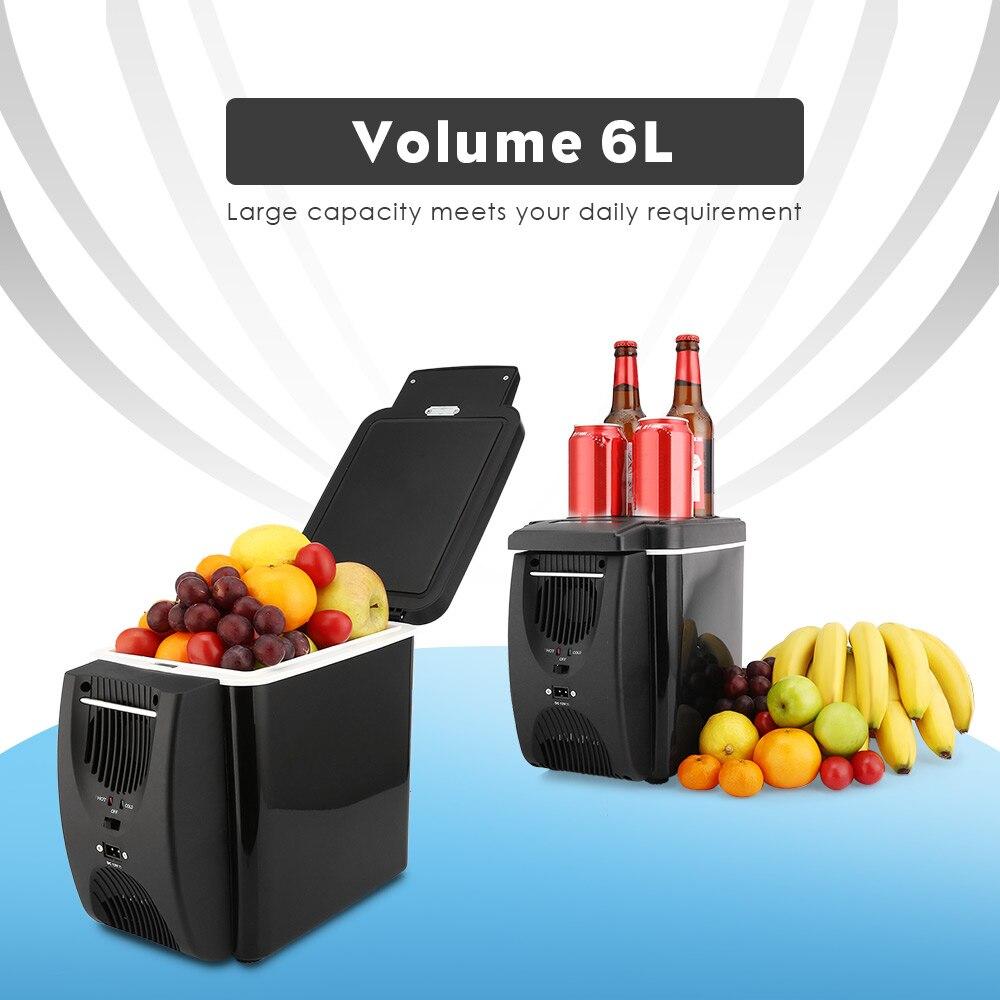 Mini Fridge Refrigerator-Warmer 4-Holders Car Portable Geladeira 12V 6L with 2-In-1 45W