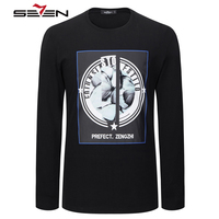 Seven Brand Casual Fashion T Shirts 2017 Latest Style Spring Summer T Shirt Fashion Printing Pattern