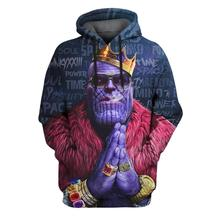 YOUTHUP 2019 Anime Design Mens 3d Hoodies Fashion Full Printed Hooded Pullovers Male Cool Thanos 3D Sweatshirt