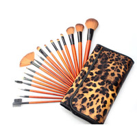 MUQGEW 2017 Neue 18 XProfessional Make-Up Set Kits Pinsel Kabuki Kosmetik Pinsel-werkzeug Leopardenmuster Kunsthaar Make-Up Pinsel