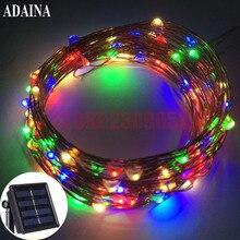 10M 100 LED Solar LED Charger Lamp Garden Light Solaris Panel Copper Wire String Light Outdoor Fairy Lamp For Wedding Christmas