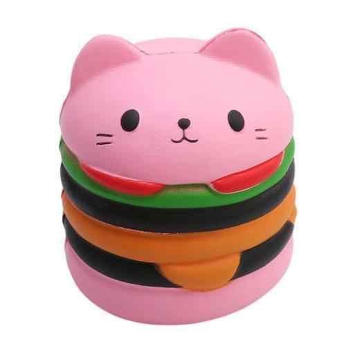 2018 Jumbo сжимаемые игрушки для детей, медленно поднимающиеся антистровые игрушки, кот в форме гамбургера, картошки фри попкорн кофейная чашка, Мягкое снятие стресса