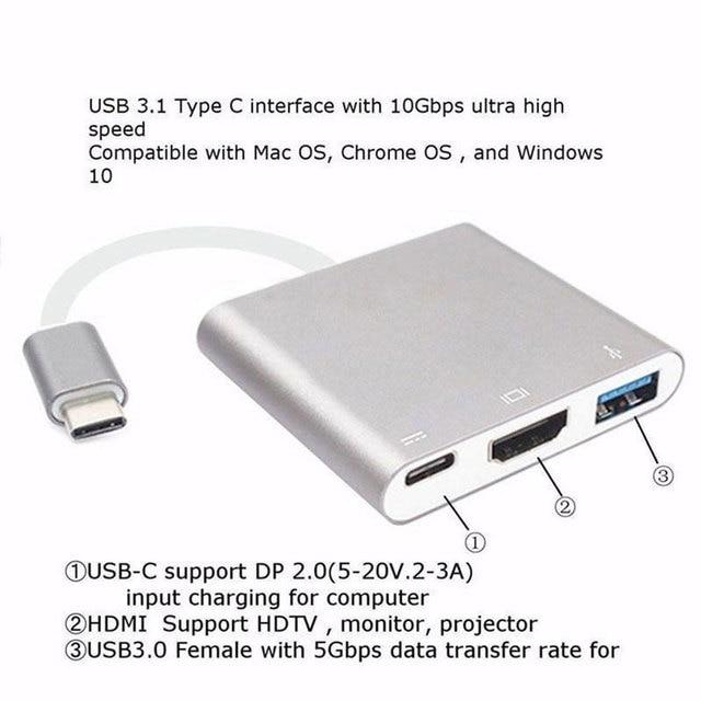 Moable USB C HUB a HDMI per Macbook Pro/Air Thunderbolt 3 USB tipo C Dock Adapter supporto Samsung Dex mode con PD USB 3.0 4
