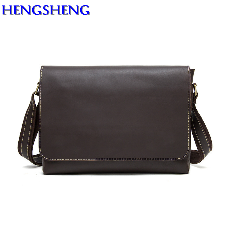 Hengsheng fashion vertical men shoulder bag with genuine cow leather men shoulder bags of gentlemen messengers bags circle of gentlemen брюки wyatt 300 circle of gentlemen 54 размер