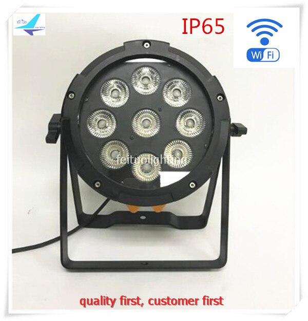 free shipping 10pcs/lot IP65 Stage Lyre 19x12w LED Wireless Battery Par Light WIFI Smart Par Can RGBWA UV 6IN1 Disco DJ Lighting