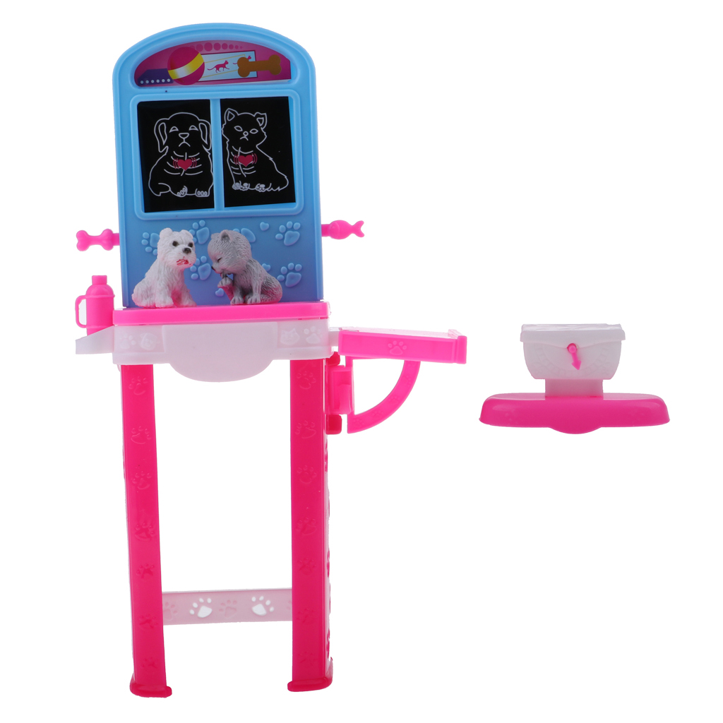 DIY Lovely Dollhouse Accessories Pets Health Examination Bench for Barbie House 11.5 inch