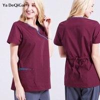 Doctors Nurses Scrub Sets Female medical clothing Short Sleeve Uniforms Dentistry Oral Clinic Pet Doctor Workwear Spa uniforms