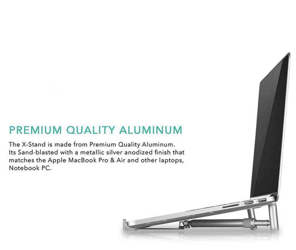 Aluminium Notebook Laptop X Stand Portable And Adjustable