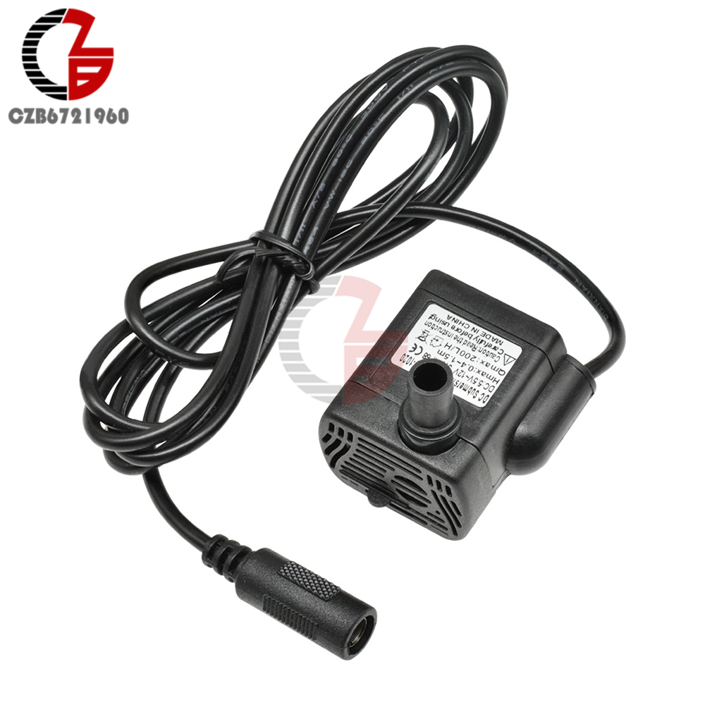 5.5V-12V 3W DC Submersible Water Pump IP68 Waterproof Solar Pump Motor 200L/H 0.4-1.5M For Aquarium Fountain Fish Tank