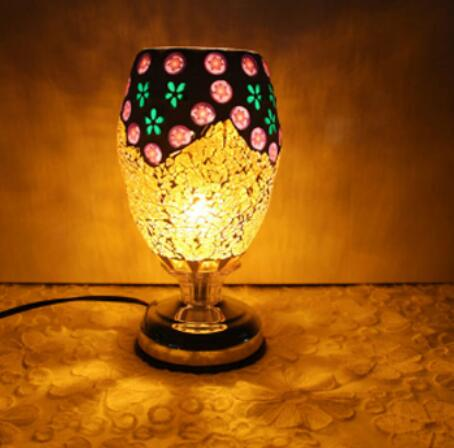 Tiffany of shipping complex antique mosaic lamp burner plug lamp oil lamp table lamp wedding DF110 tiffany of shipping complex table lamps antique mosaic burner plug oil wedding retro wind mosaic aroma table light