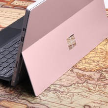 for Microsoft Surface Pro 4 Laptop Skin Anti-scratch Rose Gold Pure Color Removable Bubble Free Slim Decal Laptop Sticker