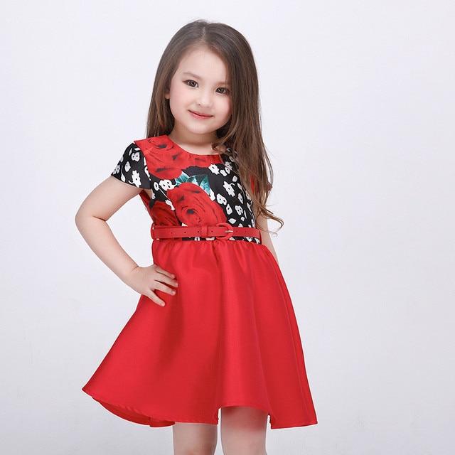 girl dress flower kids dresses for girls children clothing summer style kids princess wedding party dress baby clothing for girl