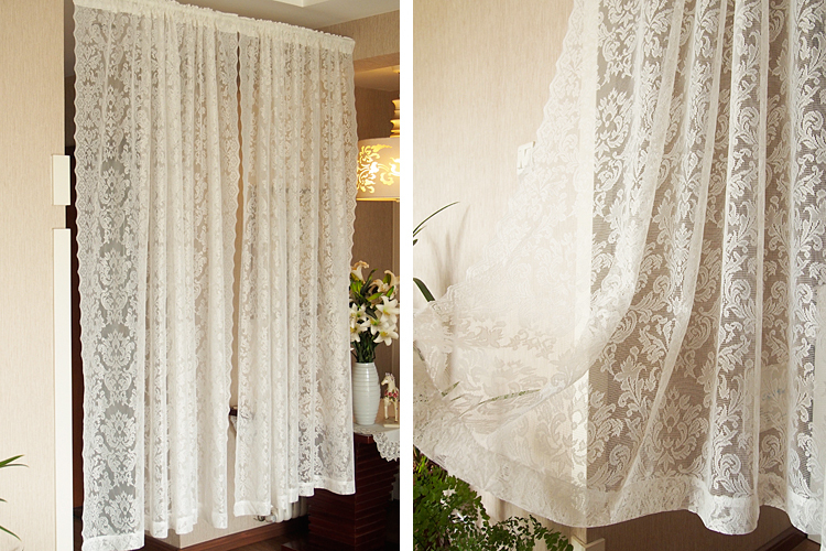 Free shipping The Baroque style polyester lace French window bedroom ...