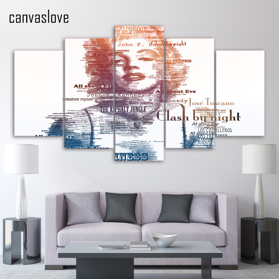 Hd printed marilyn monroe painting canvas print room decoration print poster picture canvas free shipping