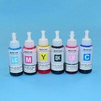 T6741 T6746 6 Renk Uyumlu su bazlı UV boya mürekkep dolum kitleri Için L600 L601 L700 L701 L800 l801 L850 baskı mürekkebi ink refill kit refill kitdye ink -