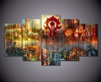 5Piece Painting Calligraphy HD Printed Game Cartoon Characters Painting Canvas Print Decor Picture Canvas Print Poster