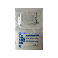400 pcs/pack CPR Face Shield Resuscitator mouth to mouth mask new