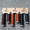 Тайвань GYES натуральная коровья кожа сцепление/классический велосипед кожаный захват/классический велосипед руль ручки действительно кожа...