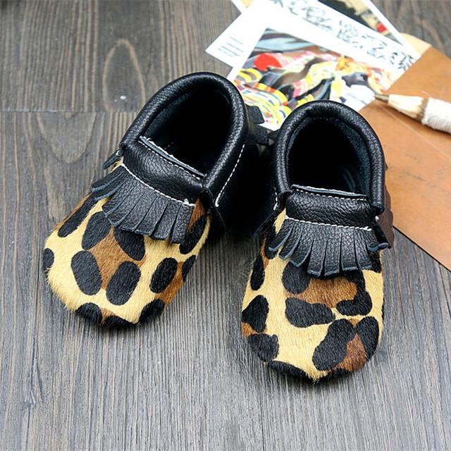 Cores misturadas sapatos de bebê Leopardo arco Genuíno LeatherFirst Caminhantes mocassins de design para a Criança Do Bebê Frete grátis