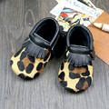 Mixed colors  baby shoes Leopard bow Genuine LeatherFirst Walkers design for Toddler Baby moccasins Free shipping