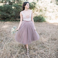 Vintage Pretty Formal Tulle Skirts For Bridesmaid Custom Made High Quality Women Clothing 2017 Tutu Skirt New Arrival