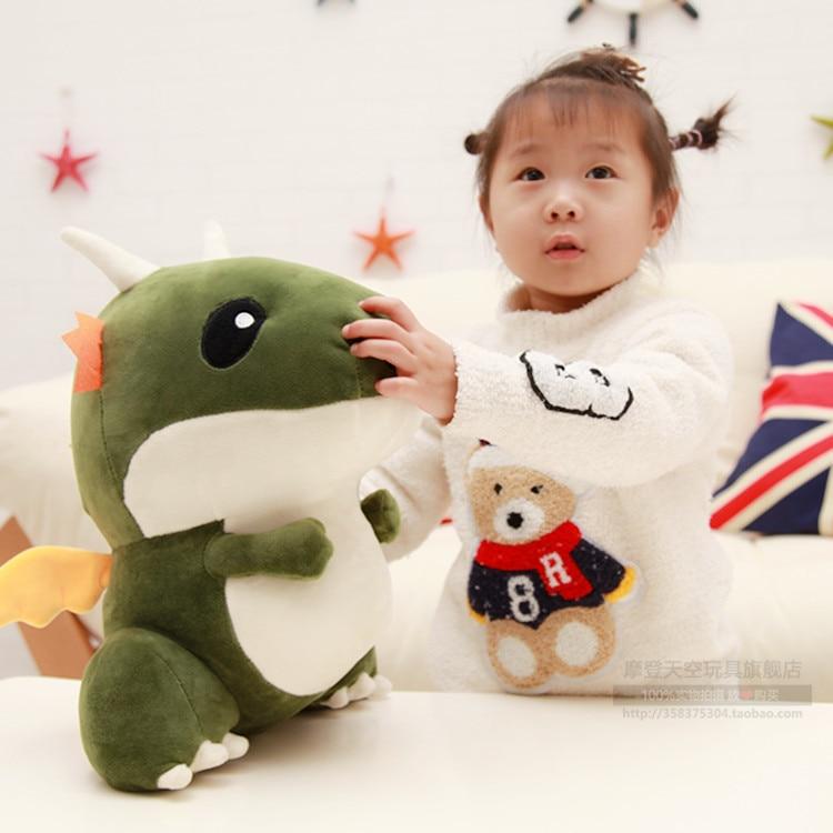 40x27Cm Small Dragon Zodiac Dragon Plush Toy Doll Boyfriend Valentines Gift Dinosaur Dragon Plush Doll Toys Fast Shipping робот zodiac ov3400