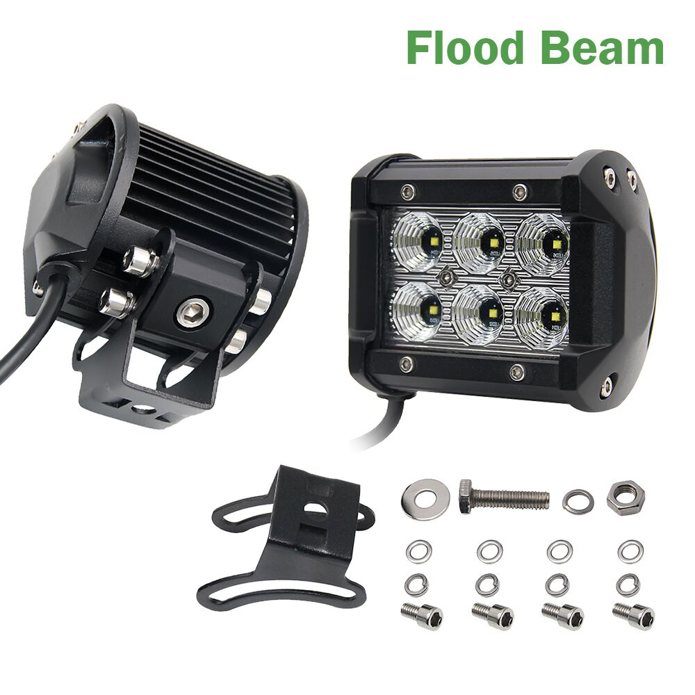 COLIGHT 4Inch Offroad LED Light Bar 18W LED Work Light Bar Spot Flood 12V 24V pro přívěs pro nákladní automobily 4X4 Lada DRL Pracovní světla