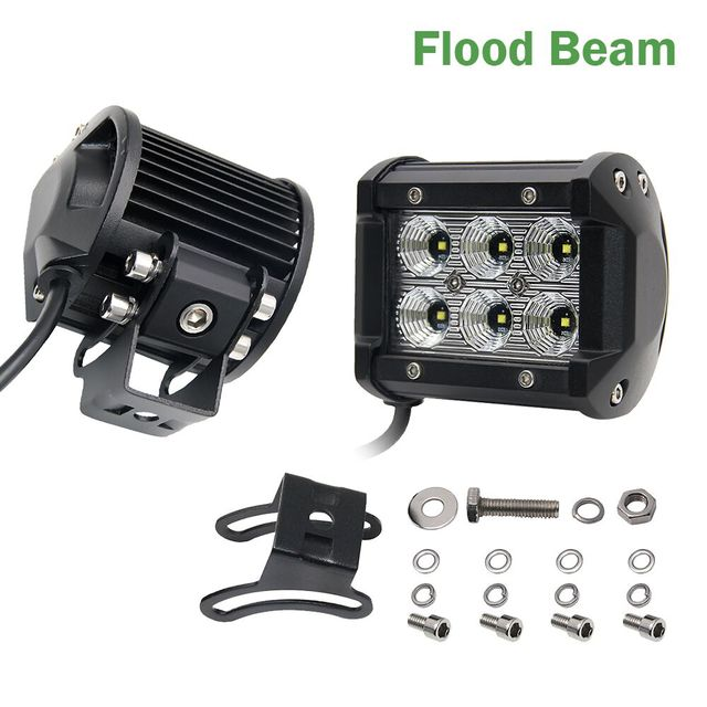 Colight 4inch offroad led light bar 18w led work light bar spot colight 4inch offroad led light bar 18w led work light bar spot flood 12v 24v for aloadofball Images