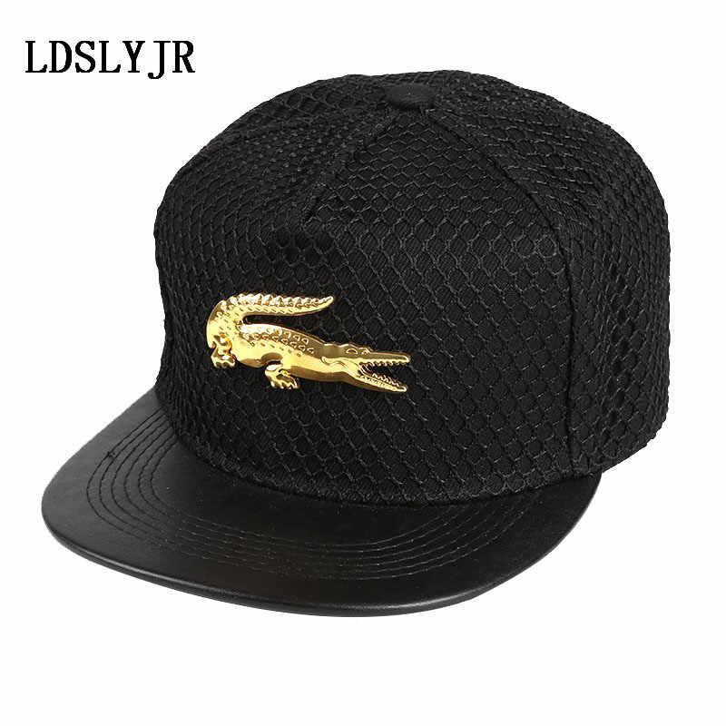abc62a56be6 2018 acrylic Metal Cross superman batman Crocodile Baseball Cap hip-hop cap  Adjustable Snapback Hats