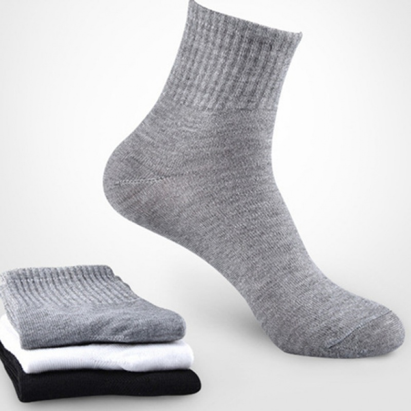 20Pcs=10Pairs Solid Color Men Black Socks Casual Sports Disposable Indoor Socks Wholesale Cheap Price For Men Women Four Seasons